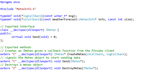 A WPF GUI for a C++ DLL: A Complex PInvoke Construct | Clatter from